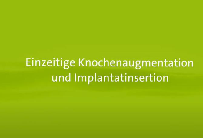 Knochenaufbau simultan mit Implantation